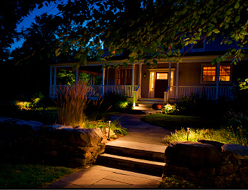 Petersen Landscaping and Design - Landscape Lighting Southern NH